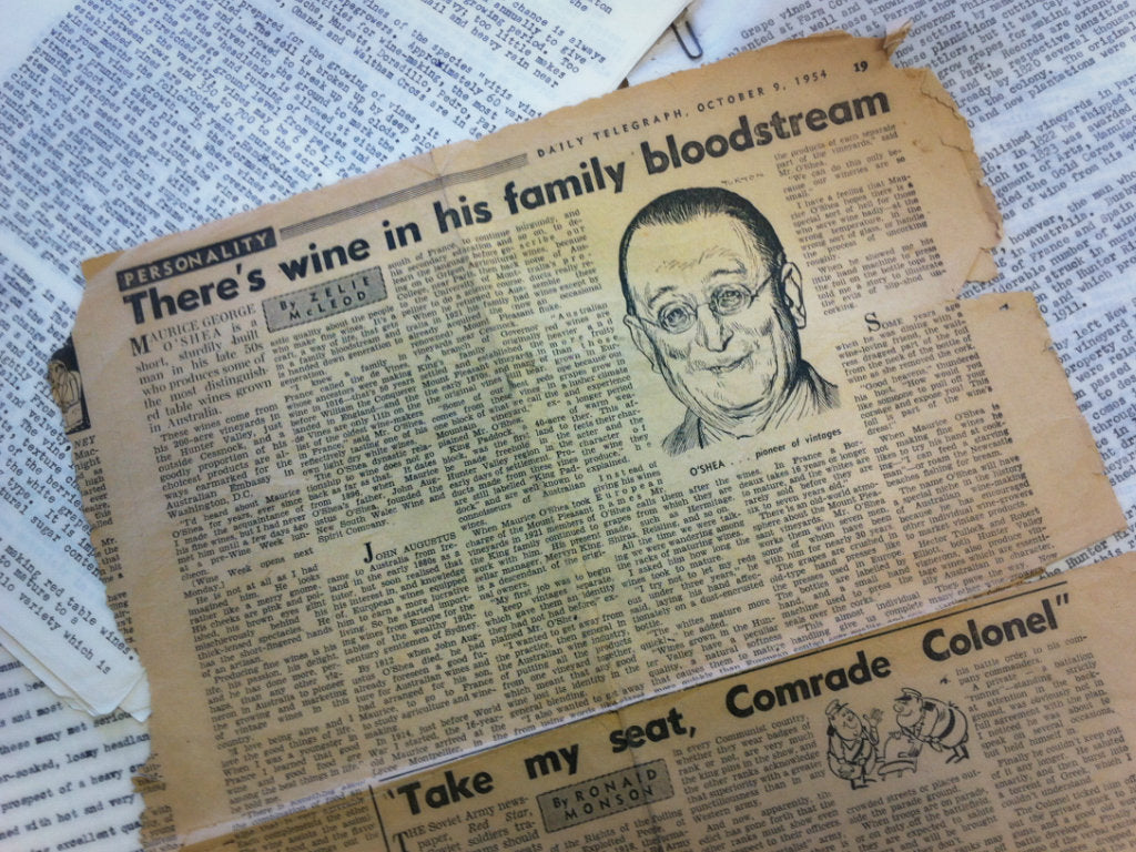 """There's Wine In His Family Bloodstream."""