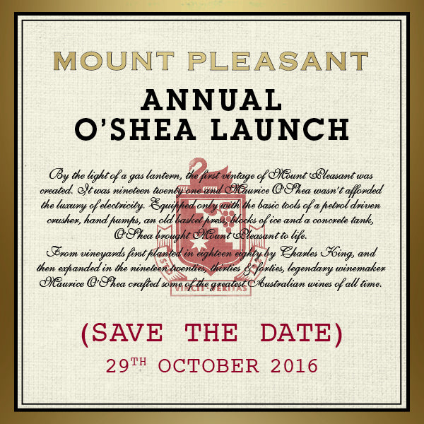 Save The Date – Annual O'shea Launch