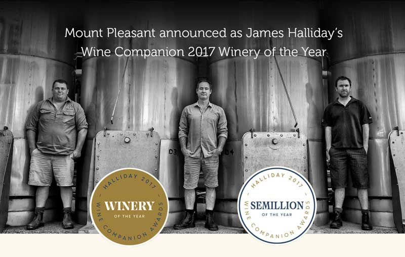 Mount Pleasant Announced As James Halliday's Wine Companion 2017 'Winery Of The Year'