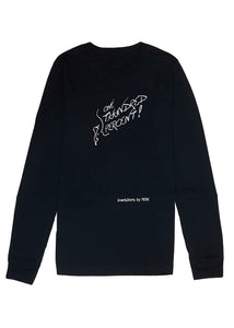 Long Sleeve Tee: ONE THUNDRED PERCENT! - Black