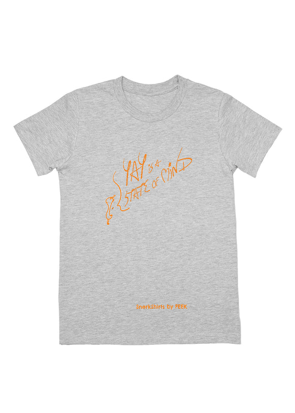 Youth Tee: YAY is a STATE of MIND - Athletic Heather