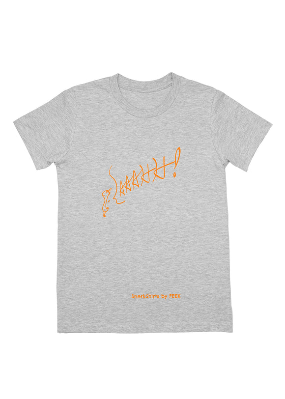 Youth Tee: AAAHH! - Athletic Heather w/ Orange