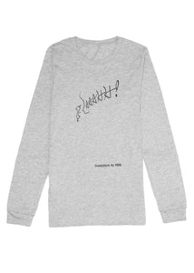 Long Sleeve Tee: AAAHH! - Athletic Heather