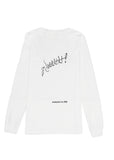 Long Sleeve Tee: AAAHH! - White