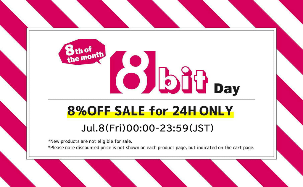 [8% off the tags] 8bit Day