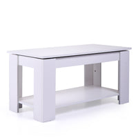 White Coffee Table / Hidden Compartment