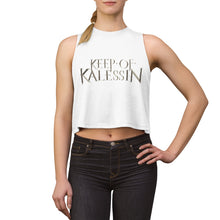 Load image into Gallery viewer, Keep Of Kalessin - Silver Logo Women's Crop top