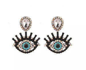 eyelash earrings