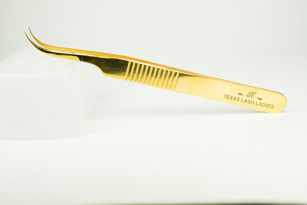 Pro Ribbed Curved Volume Tweezer