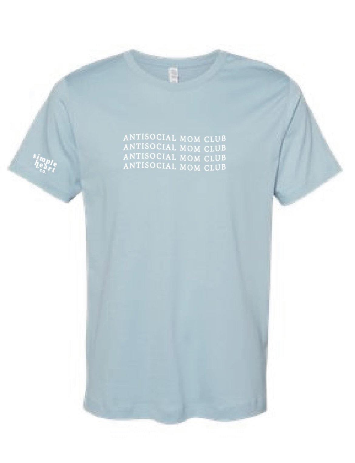 antisocial mom club t shirt
