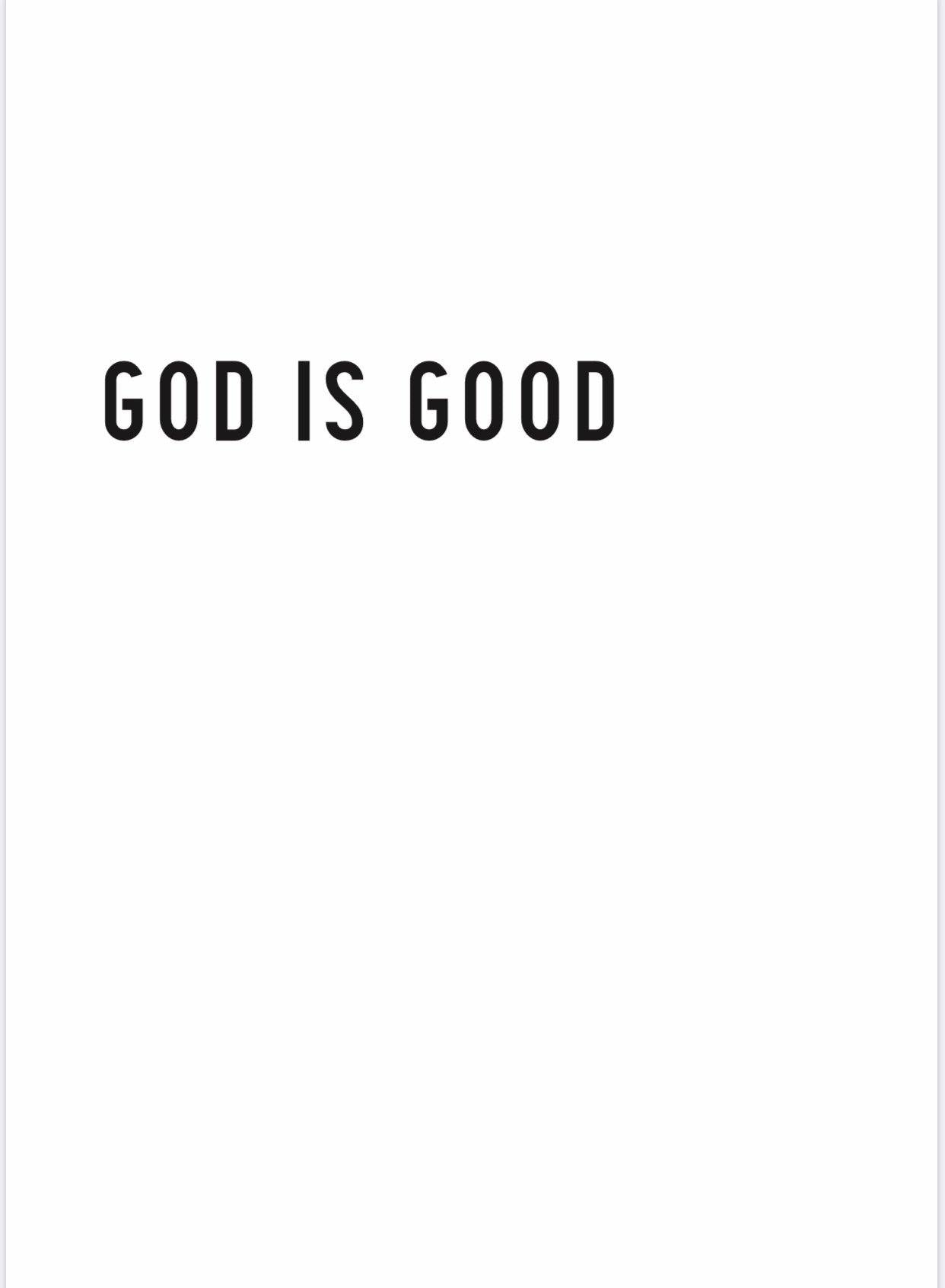 GOD IS GOOD print PDF