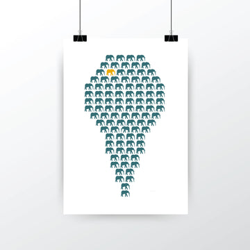 'Herd of Hope' Limited Edition Artwork - Teal