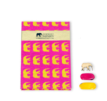 Hot Pink & Yellow Elephant Conservation Writing Set