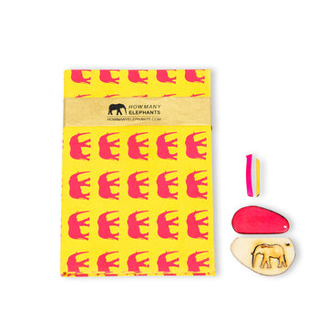 Yellow & Hot Pink Elephant Conservation Writing Set