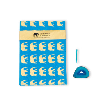 Blue & Gold Elephant Conservation Writing Set