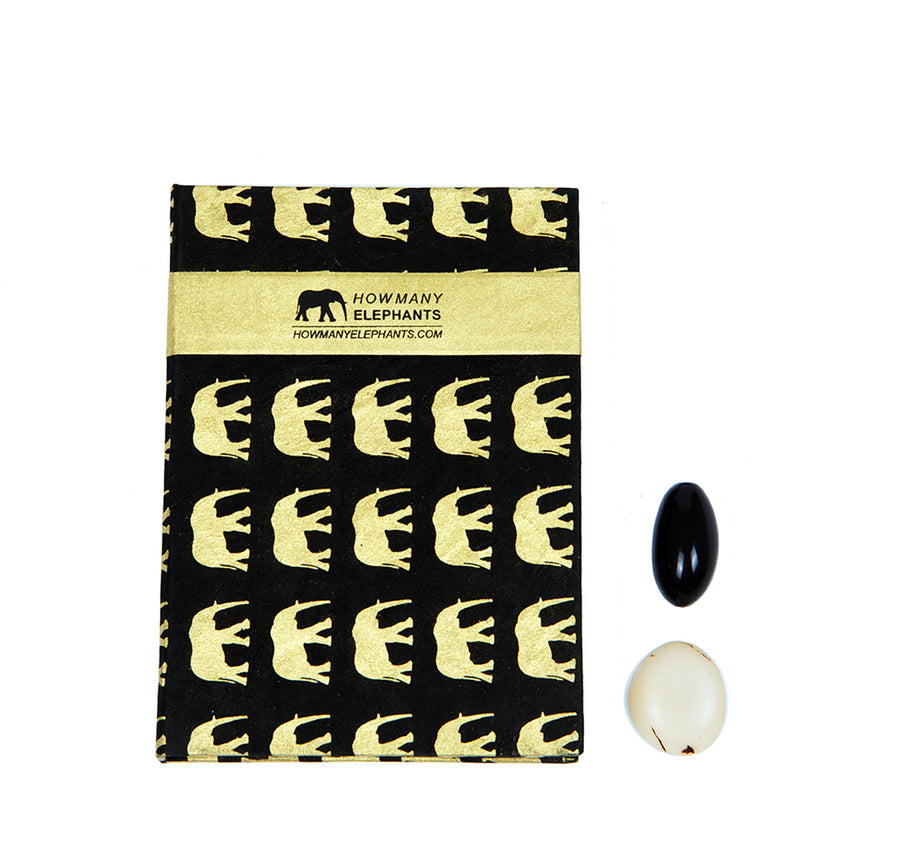Black and Gold Elephant Conservation Writing Set