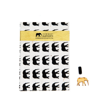 Black and Natural Elephant Conservation Writing Set