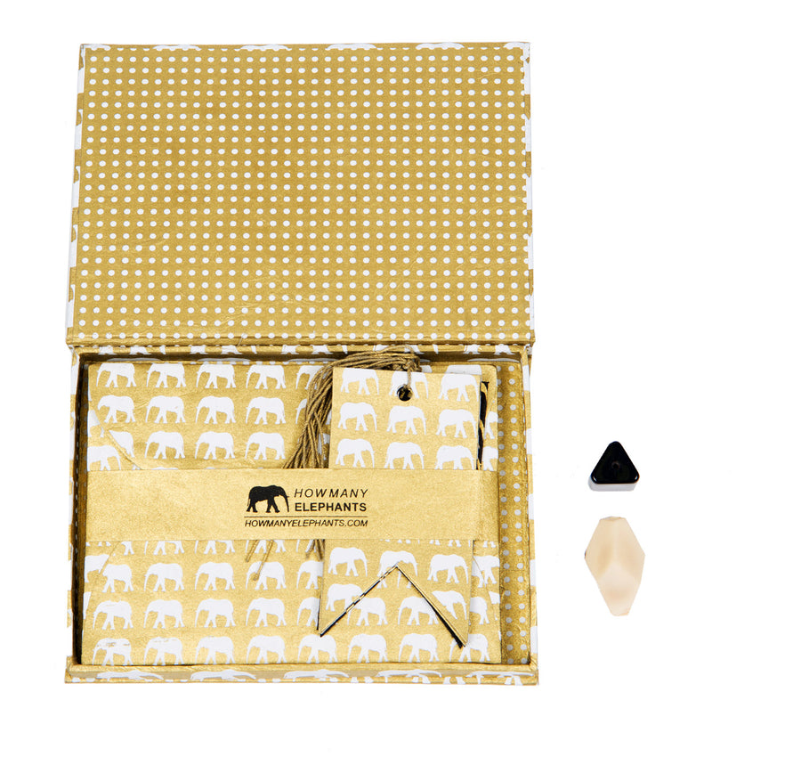 Gold & White Conservation Writing Set