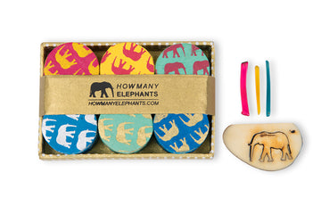 Coloured Elephant Conservation Gift Box Set