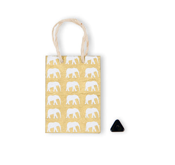 Gold & White Elephant Conservation Greeting Bag