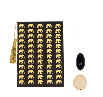 Black & Gold Elephant Conservation Greeting Card