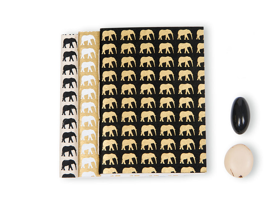Monochrome Elephant Conservation Notebook Set