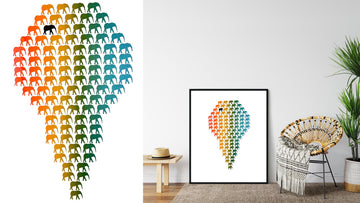 'Herd of Hope' Limited Edition Artwork - Multicoloured