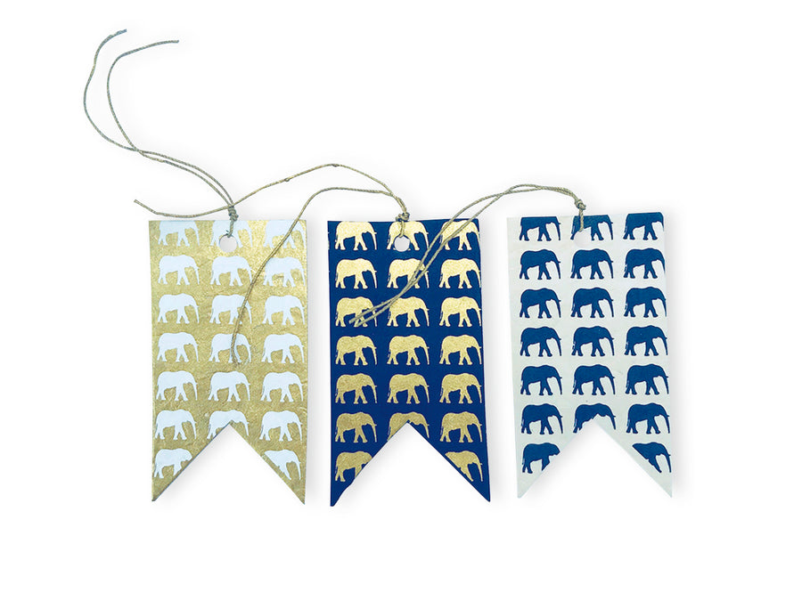 Monochrome Elephant Conservation Gift Tags