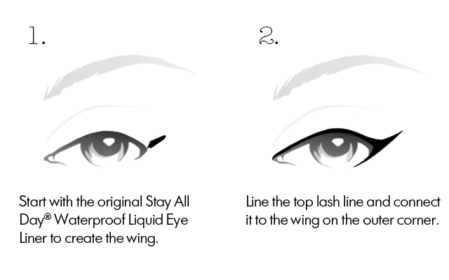 cat eye step 1 and 2