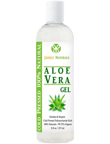 Aloe Vera Gel Relieves Sunburn, Ance and Heal Small Skin Cut, Cold Pressed 8oz