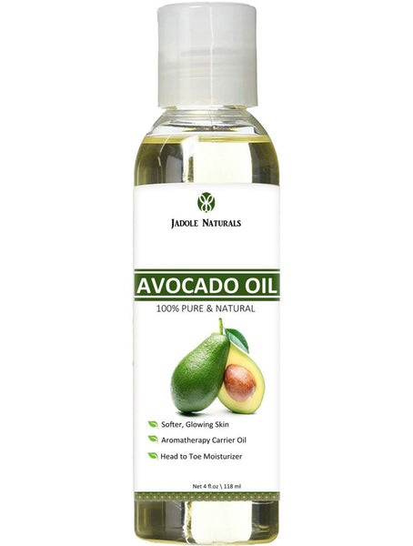Jadole Naturals Avocado Oil, 4 fl oz 118 ml