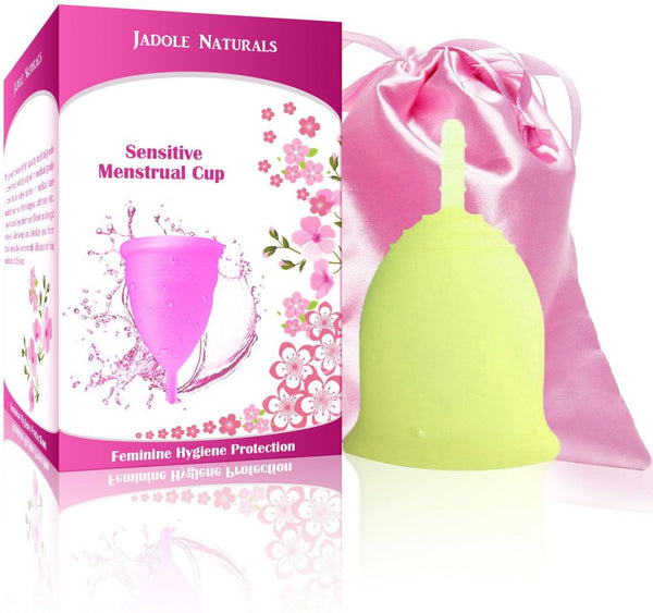 Menstrual Cup Tampon and Pad Alternative - Feminine Hygiene Protection - Large - Yellow