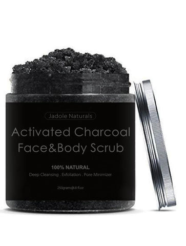 Activated Charcoal Body Scrub and Facial Scrub from Jadole Naturals