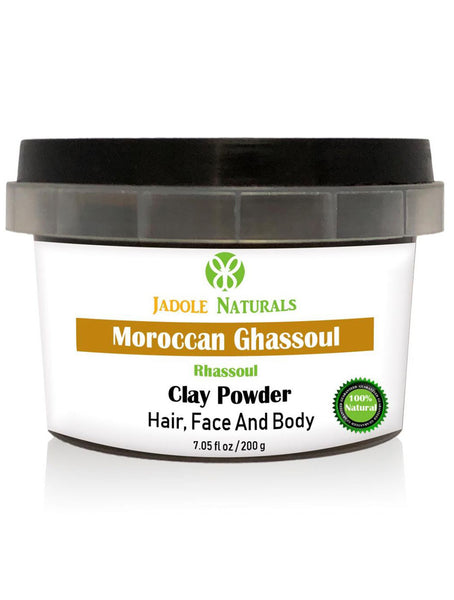 Moroccan Natural Rhassoul Clay Powder, Ghassoul For Face, Hair and Body