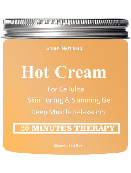 Body Naturals Hot Cream for Cellulite Reduction, Skin Toning and Slimming