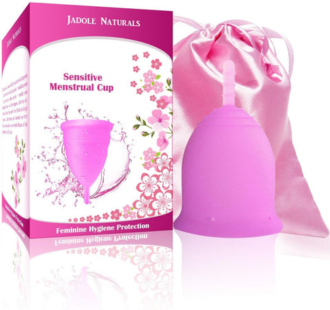 Menstrual Cup Tampon and Pad Alternative - Feminine Hygiene Protection - Large - purple