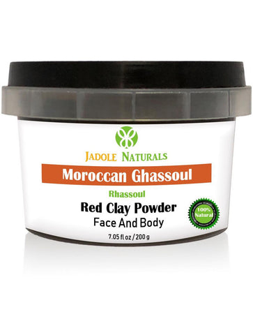Moroccan Natural Red Clay Powder, Moroccan Ghassoul, For Face, Body and Hair