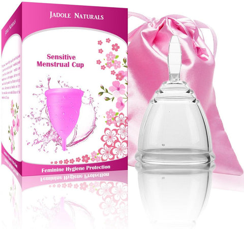 Menstrual Cup Tampon and Pad Alternative - Feminine Hygiene Protection - Small - Transparent color