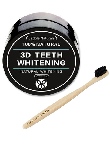 3D Teeth Whitening Activated Charcoal And Bamboo Toothbrush