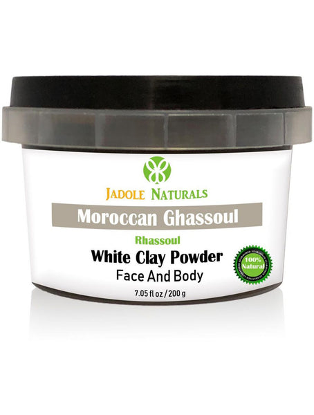 Moroccan Natural White Clay Powder, Moroccan Ghassoul, Face, Hair, Body