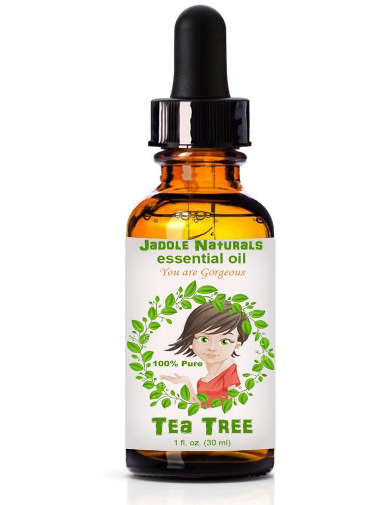 Tea Tree Essential Oils, 1 fl oz (30 ml) With Glass Dropper by Jadole Naturals