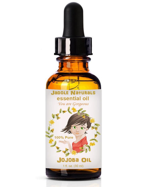 Jojoba Essential Oils, 1 fl oz (30 ml) With Glass Dropper by Jadole Naturals