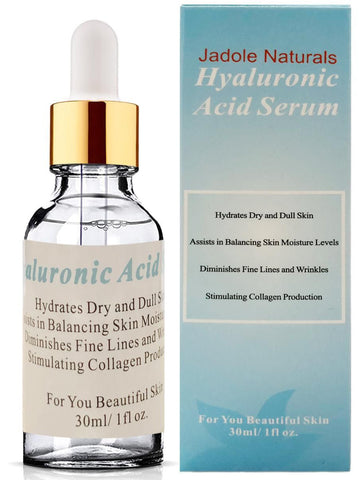 Natural Hyaluronic Acid Serum For Face, Anti Aging Anti Wrinkle, Hydrate and Diminish Lines