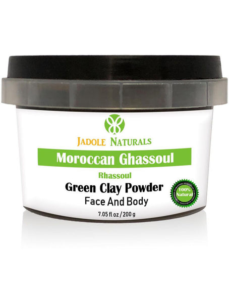 Moroccan Natural Green Clay Powder, Moroccan Ghassoul, For Face and Body