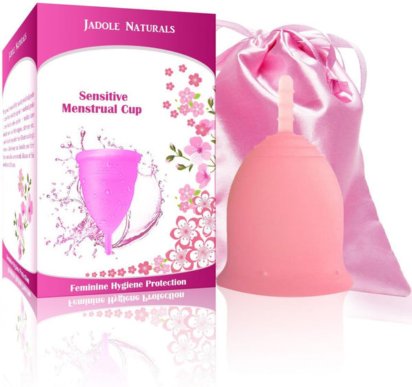 Menstrual Cup Tampon and Pad Alternative - Feminine Hygiene Protection - Large - Pink