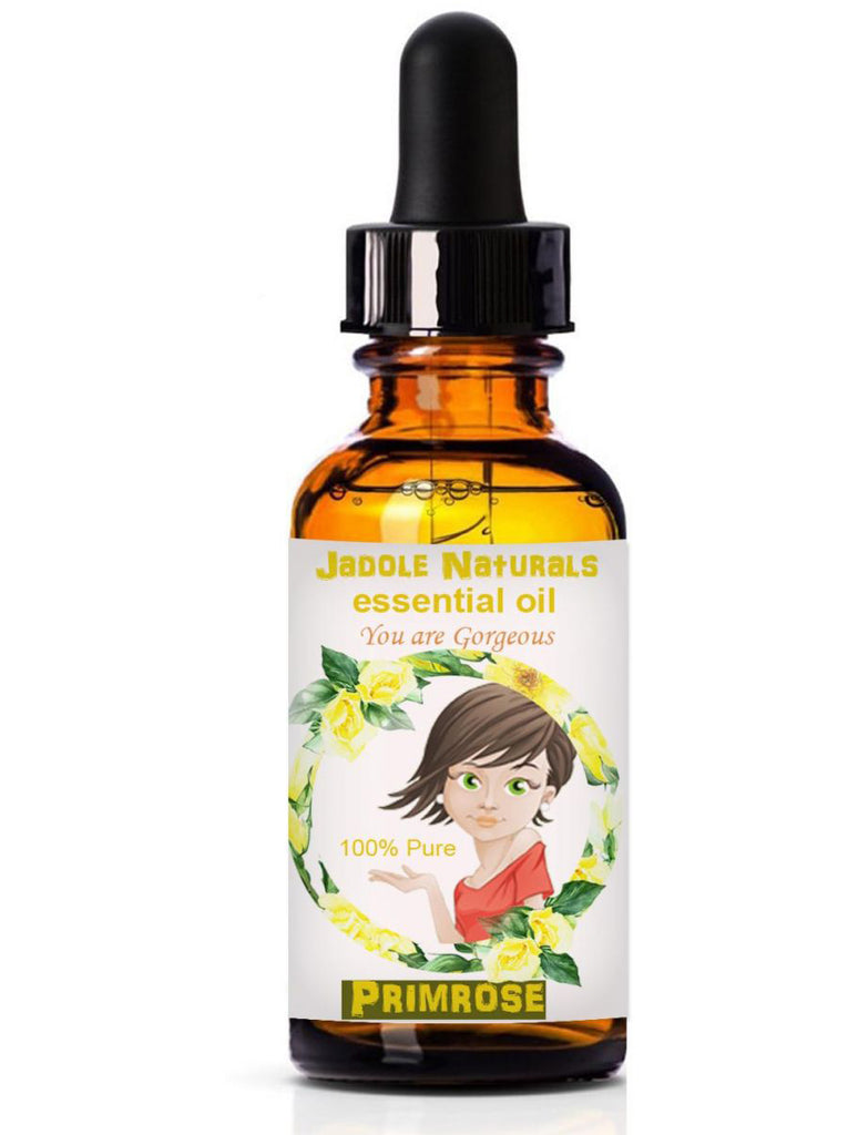 Primrose Essential Oils, 1 fl oz (30 ml) With Glass Dropper by Jadole Naturals