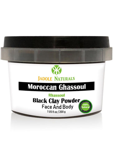 Moroccan Natural Black Clay Powder, Moroccan Ghassoul, For Face, Body and Hair