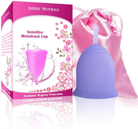 Menstrual Cup Tampon and Pad Alternative - Feminine Hygiene Protection - Small - Blue