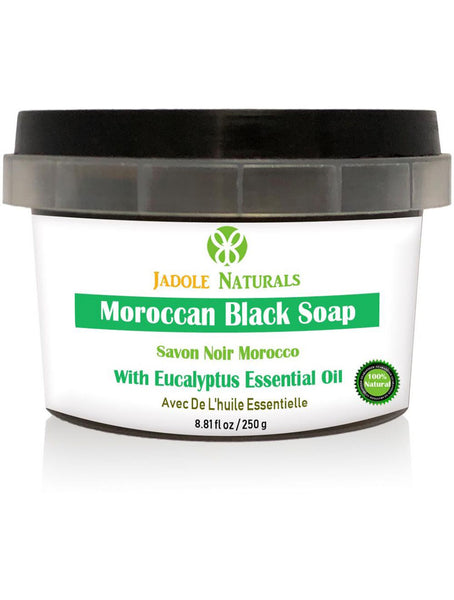 Moroccan Black Soap With Eucalyptus Essential Oil, Beldi Soap