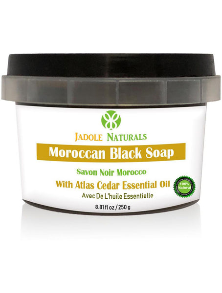 Moroccan Black Soap With Atlas Cedar Essential oil, Beldi Soap